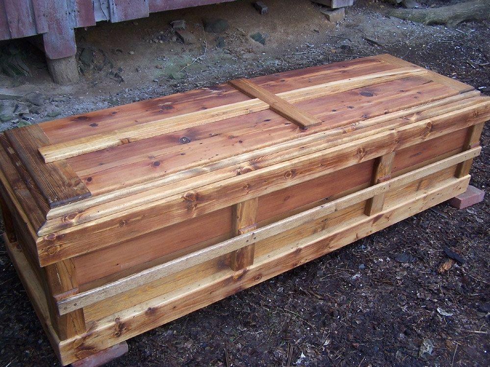 Buy a Handmade Reclaimed Knotty Pine Custom Casket, made to