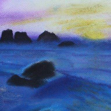 "Custom Made Original Pastel Drawing ""Seascape''"