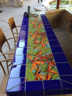 Custom Made Bird Of Paradise Tile Mural