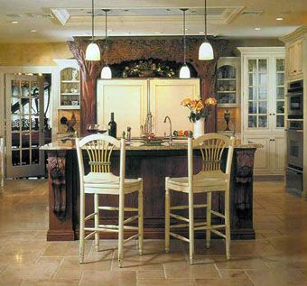 Custom Made Hand Carved Kitchen/Bath Cabinets