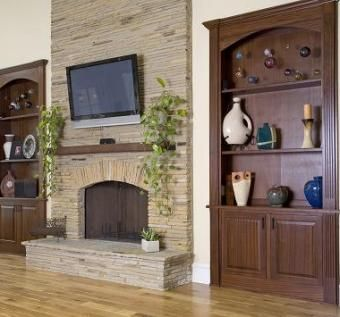Custom Made Mahogany Built-Ins