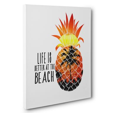 Custom Made Life Is Better At The Beach Canvas Wall Art