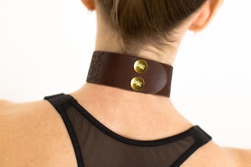Custom Made Leather Bondage Collar - Chestnut Brown Latigo