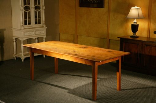 Custom Made Cottage Style Harvest Dining Room Table With Golden Brown Finish