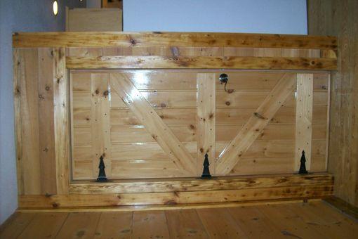Hand Made Custom Interior Pine Cabin Doors By Drews Up North