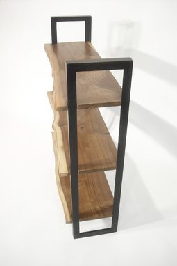 Custom Made Walnut + Steel Bookcase