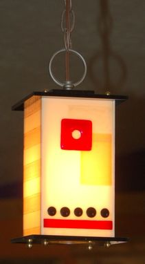 Custom Made Kitchen Pendant Lights - Fused Glass