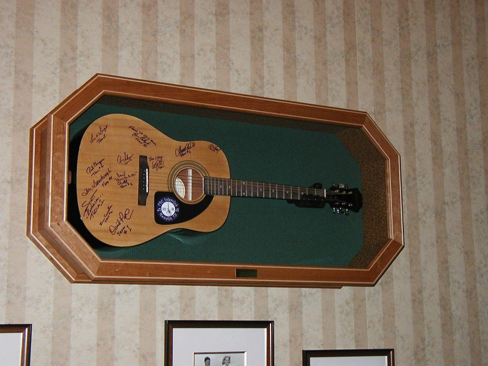 handmade guitar display case by f y woodwerks inc. Black Bedroom Furniture Sets. Home Design Ideas