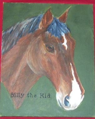 Custom Made Billy The Kid Custom Horse Painting