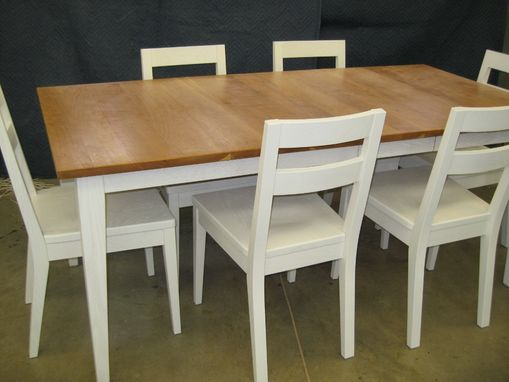 Custom Made Cherry And Oak Country Dining Set