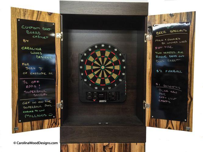 Handmade Custom Dartboard Cabinet By Carolina Wood Designs Custommade