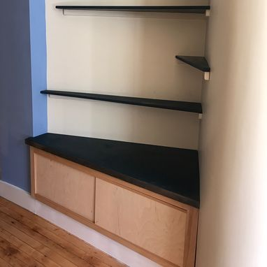 Custom Made Storage And Display Shelves