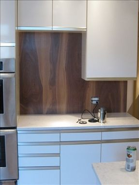 Custom Made Walnut And Stainless Steel Kitchen