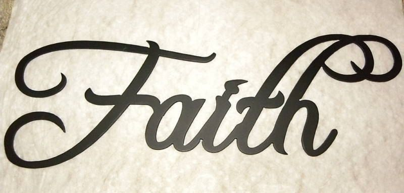 Handmade Faith Word Decorative Metal Wall Art by Say It All On The ...