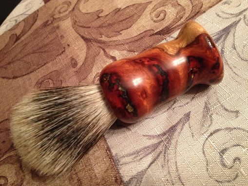 Custom Made Amboyna Burl Custom Badger Hair Shaving Brush