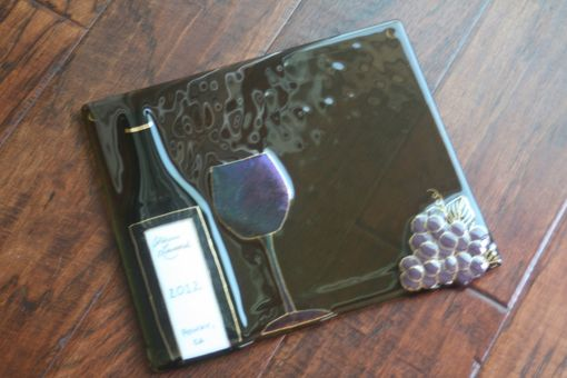 Custom Made Wine-Themed Glass Serving Tray