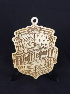 Custom Made Harry Potter Hogwarts Wood Laser Cut Christmas Ornaments Set Of Five