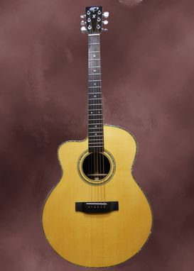 Custom Made Left Handed Jmsj Acoustic Guitar.