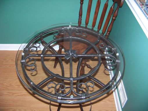 Custom Made Forged Iron Bistro Table