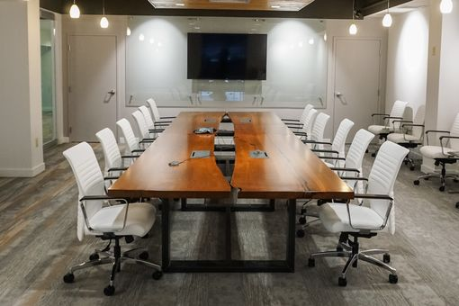 Custom Made Live Edge Conference Table