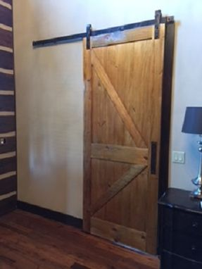 Custom Made Pine Barn Door Slider