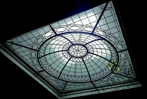 Custom Made 10' X 10' Leaded Glass Ceiling Dome