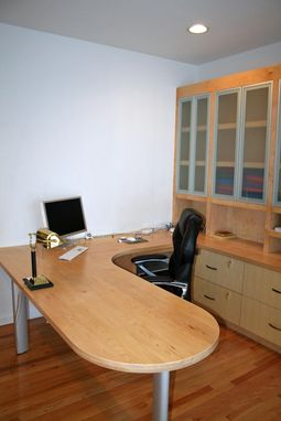 Custom Made Contemporary Maple And Metal Home Office