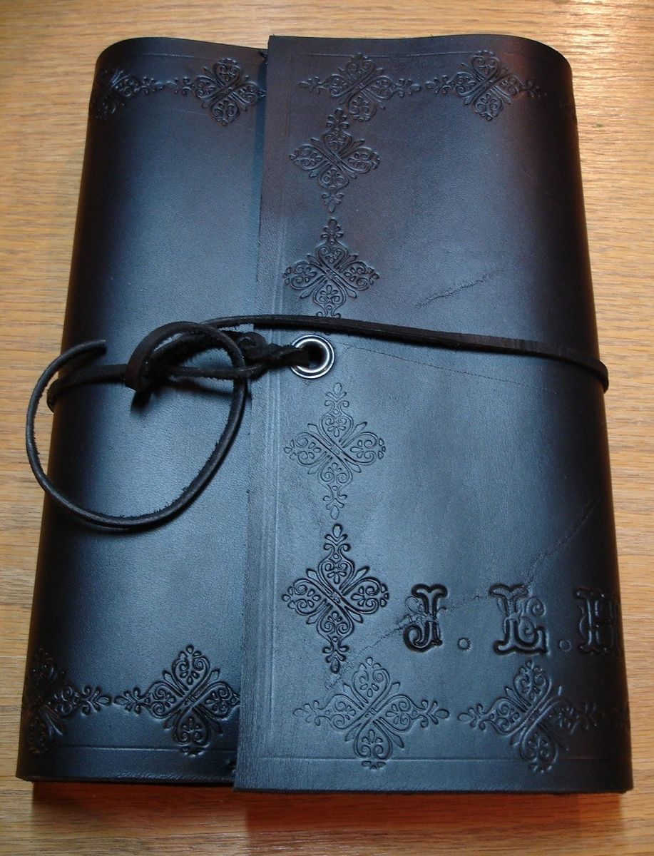 Custom Made Leather Wrap Around Book Cover By Green Man Leather Inc Custommade Com