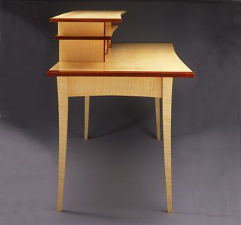 Custom Made Curly Sycamore Desk
