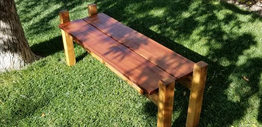 Custom Made Reclaimed Oak Bench
