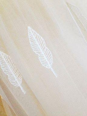 Custom Made Short Wedding Dress Fall Leaves Embroidery
