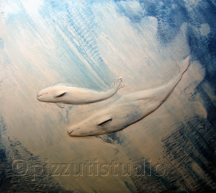 Custom Made Whale Relief Sculpture