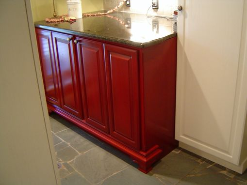 custom washer and dryer cabinet by parkers custom hardwoods inc. Black Bedroom Furniture Sets. Home Design Ideas