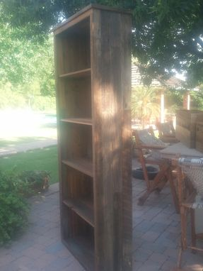 Custom Made Tall Wooden Bookcase
