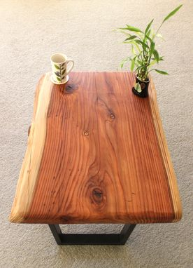 Custom Made Live Edge Wood Coffee Tables (Redwood Featured) With Steel Legs