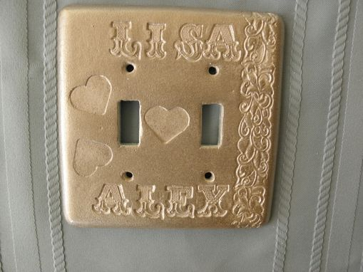 Custom Made Switchplate ,Light Switchplate,Personalized ,Handmade ,Hand Carve On Ceramic,,Hand Painted ,Unique .