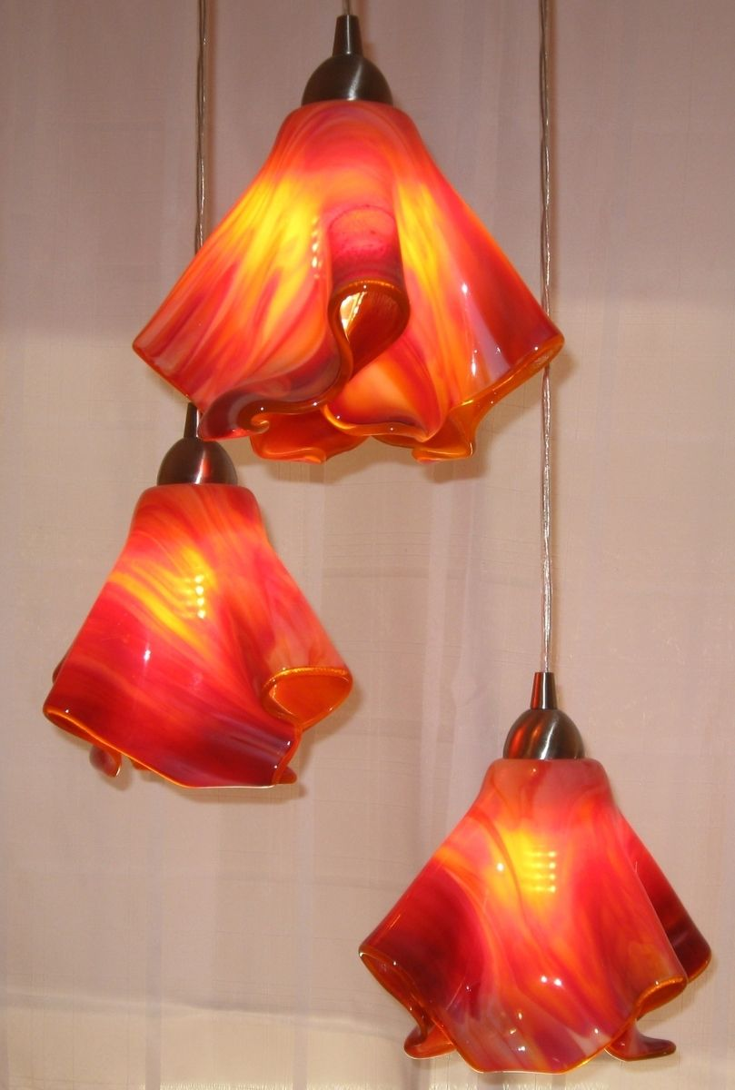 Custom Triple Pendant Entry Or Dining Room Light By Fused