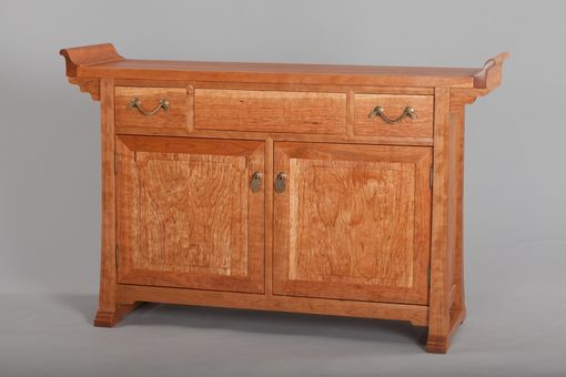 Custom Made Tang Credenza (Solid Cherry)