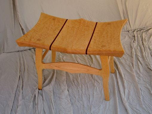Custom Made Birdseye Maple Sitting Bench