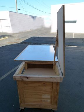Custom Made Custom Art / Project / Drawing / Work Table From Re-Purposed Crate