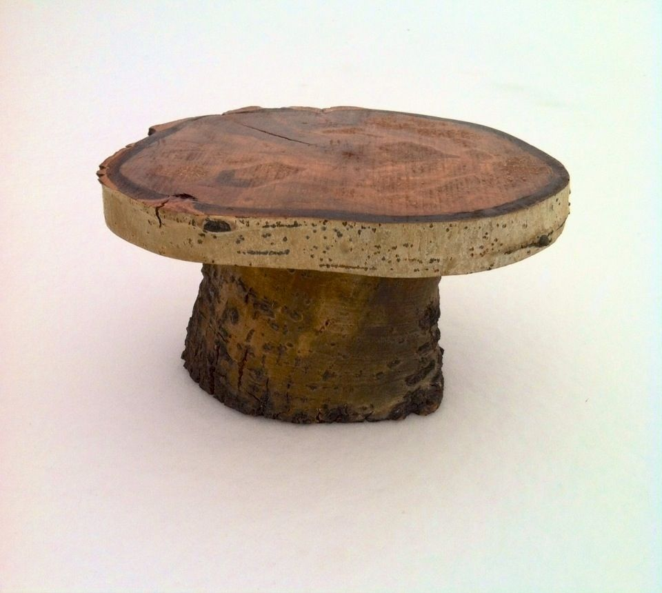 Custom Made Rustic Colorado Aspen Wood Cake Stand
