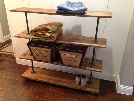 Custom Made Rolling Storage Cart With Four Shelves