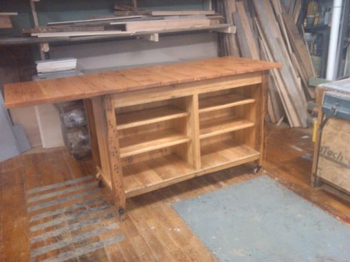 Custom Made Custom Reclaimed Pine Kitchen Island