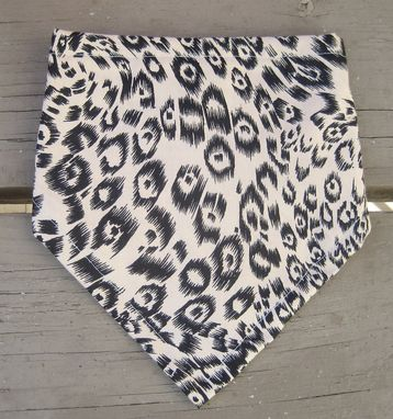 Custom Made Leopard Bandana Bib For Baby, Reversible Cotton Bibdana