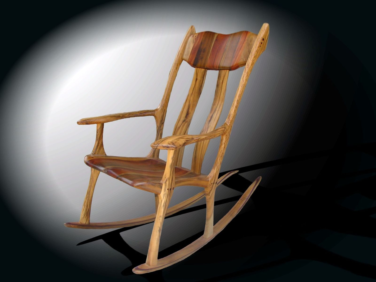 hand crafted exotic rocking chairs by bearkat wood custommade com