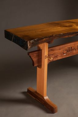 Custom Made Mayflower Trestle Hall Table