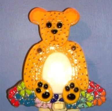 "Custom Made ""Bear In Mind"" - Fused Glass Nightlight"