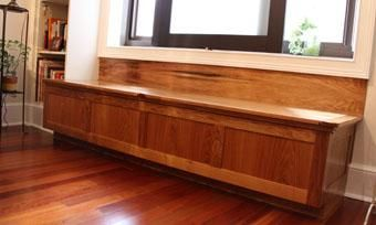 Custom Made Butternut Window Bench