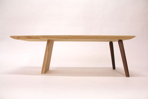 Custom Made Mid Century Modern Ash And Walnut Coffee Table
