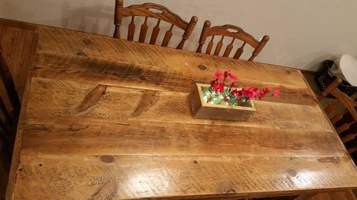 Custom Made Barn Wood Rustic Dining Room Table Made From 1800s Reclaimed Minnesota Barn Wood